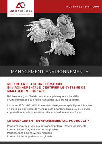 Le management environnemental